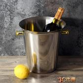豪華型歐式紅酒冰桶 加厚不銹鋼香檳桶冰鎮桶 家用冰粒桶 mks免運