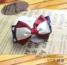 【YT店髮飾】點點俏皮紅藍緞帶蝴蝶結髮夾/髮飾/頭飾/彈簧夾(G011)