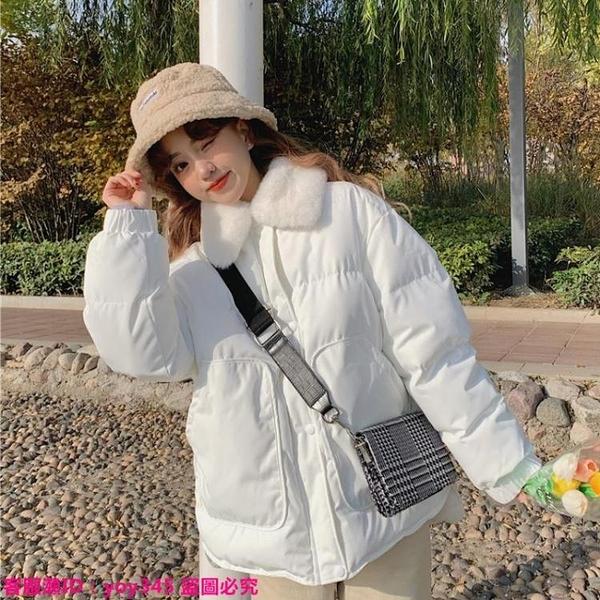 限時特惠外套 小個子棉服女冬年新款韓版溫柔風冬季加厚白色棉衣棉襖外套