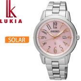 【萬年鐘錶】SEIKO LUKIA 太陽能  不鏽鋼錶帶 女錶 32mm  SUT297J1 (V137-0CG0P)