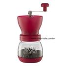金時代書香咖啡 Tiamo 密封罐陶瓷磨豆機 雕花密封罐設計 桃紅色 HG6149PK