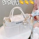 2020新款時尚日本vegiebag媽咪包帆布包女斜挎大容量手提托特包潮 黛尼時尚精品