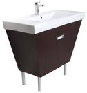 【台灣吉田】LOP-8500 100cm 全發泡桶身/水晶面板 浴櫃組 厚邊盆