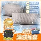 【二入】涼感枕頭套 涼感枕套 枕頭套 乳膠枕套 涼感 涼爽 冰絲 枕套【Z210506】