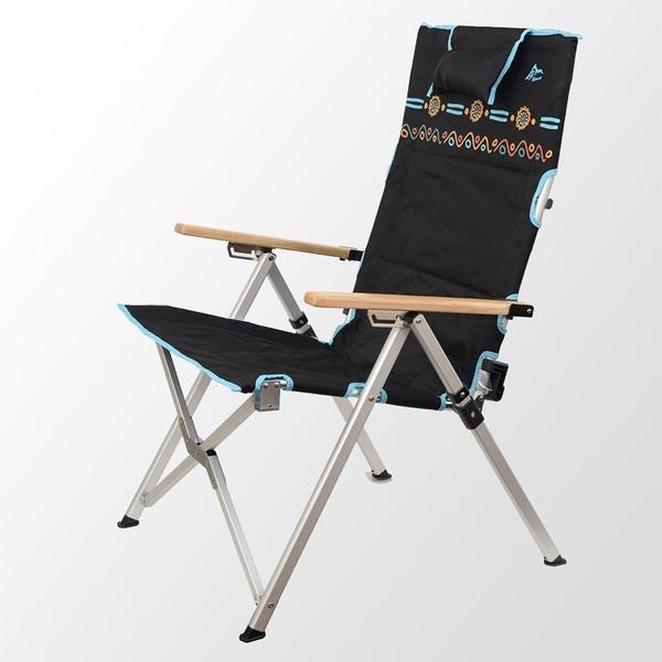 【原廠公司貨】丹大戶外【Go Sport】三段式室內/戶外兩用休閒椅 快樂椅 可調椅背 91802-BK 黑