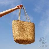 小清新沙灘包包包女草編包手工編織包百搭側背包【小酒窩服飾】