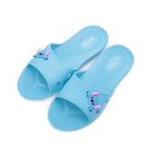 DISNEY 史迪奇卡通室內拖鞋 水藍 JA82 男女鞋 鞋全家福
