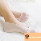 5雙 襪子女冰絲隱形襪船襪超薄透氣硅膠防滑蕾絲淺口襪套【小獅子】