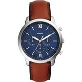FOSSIL NEUTRA 時尚流行計時手錶-藍/44mm FS5453