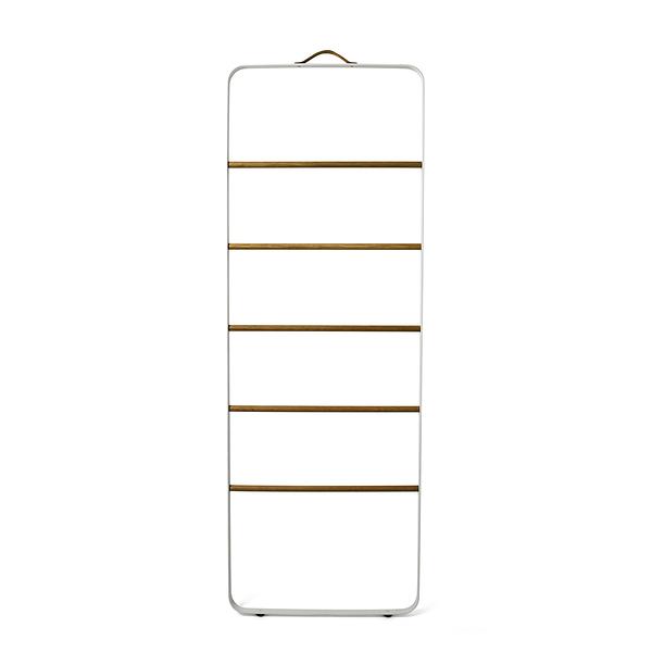 丹麥 Menu Towel Ladder 雲梯 階梯式 毛巾架(白色金屬框架 - 淺色木梯)