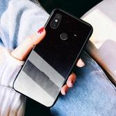 Xiaomi手機殼 小米8手機殼ins冷淡風玻璃硅膠防摔 莎拉嘿幼