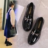 牛津鞋/紳士鞋 單鞋女2021春夏新款女鞋英倫風真皮小皮鞋韓版百搭休閑中跟樂福鞋