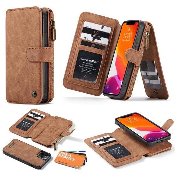 Iphone 12 / 12 Pro / 12 Pro Max / 12 Mini 商務可分離皮套殼 側開磁扣 帶卡槽套