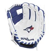 【LAKEIN運動網】║Wilson║多倫多藍鳥款兒童手套
