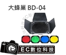 【EC數位】GODOX 神牛 BD-04 178MM 孔距 6mm 蜂巢罩 棚燈集光罩 適用18CM集光罩 四葉蜂巢套組