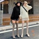 長靴女超長筒靴大腿高筒靴瘦瘦靴過膝靴子【橘社小鎮】