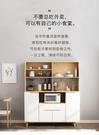 櫥櫃簡約現代餐邊櫃櫥房櫃子儲物櫃家用經濟型碗櫃北歐微波爐櫃茶水櫃