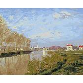 【DT015】莫內 亞嘉杜的塞納河_DIY 數字 油畫 彩繪