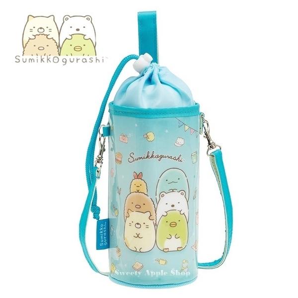 日本限定 角落生物 生活系列 掛繩 束口水瓶袋 / 水壺袋