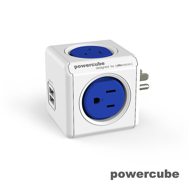 本週折扣79折 ▎擴充插座-USB兩用-荷蘭PowerCube 自動斷電保護 插座不打架 檢驗合格 原廠貨