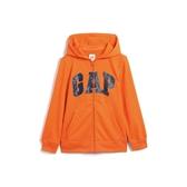 Gap男童棉質舒適徽標拉鍊連帽衫554448-亮橘色