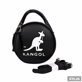 KANGOL 包 英國袋鼠 流蘇 內夾層 隨身包 黑 馬卡龍圓形側背包 - 6055301120