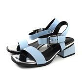 HUMAN PEACE 涼鞋 水藍色 粗跟 女鞋 9020-10 no066