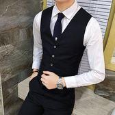 西裝馬甲春季西服馬甲男士休閒英倫小西裝韓版修身馬甲背心商務職業坎肩 曼莎時尚