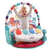 嬰兒早教健身架踢踢琴 健力架腳踏鋼琴遊戲毯-321寶貝屋