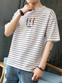 夏季t恤男短袖寬鬆汗衫男裝海魂衫