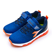 LIKA夢 DIADORA 迪亞多那 22cm-24.5cm 輕量4E寬楦慢跑鞋 CRYSTAL水晶系列 藍橘 11005 大童