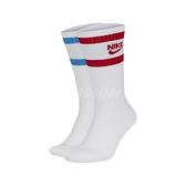 Nike 襪子 Heritage Crew Socks 紅 藍 白 男女款 長襪 運動襪 一組兩入【ACS】 SK0205-902