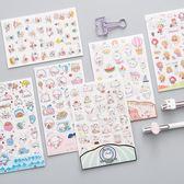 韓國創意透明可愛手機日記裝飾小貼畫
