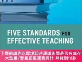 二手書博民逛書店預訂Five罕見Standards For Effective Teaching: How To Succeed