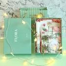 鹽系復古植物花朵手帳本INS風禮盒套裝空白本子文具生日禮物 黛尼時尚精品