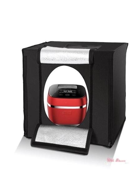攝影棚 70cm大號攝影棚小型補光攝影燈箱套裝迷你簡易拍照柔光背景箱拍攝台室內T