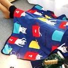【BlueCat】T馬克杯躲貓貓午睡毯 小毛毯 懶人毯 披肩 蓋毯 寵物毯