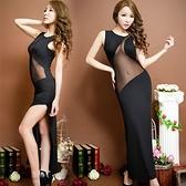透視禮服 洋裝 高檔內衣網紗鏤空透視性感長裙 誘惑旗袍夜店酒吧禮服舞蹈服裝