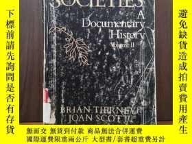 二手書博民逛書店WESTERN罕見SOCIETIES A DOCUMENTARY HISTORY (Volume 2)Y128
