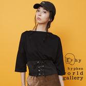 ❖ Hot item ❖ 綁帶腰封單件式設計上衣 - E hyphen world gallery