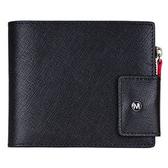 12卡零錢包短夾-十字紋黑 MONDAINE 瑞士國鐵