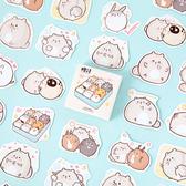 【BlueCat】耶--Ha小胖鼠盒裝 貼紙 手帳貼紙 (45枚入)