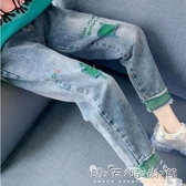 女童加絨寬鬆牛仔褲秋裝新款韓版兒童冬季洋氣中大童休閒褲子 晴天時尚館