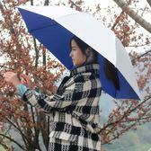 戶外傘 雙層防風防雨釣魚傘帽頭戴式雨傘防曬摺疊頭頂雨傘帽戶外遮陽垂釣 lolita