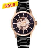 【挑戰最低價】RELAX TIME RT62系列 人動電能地球腕錶-玫塊金框x黑/45mm RT-62K-5