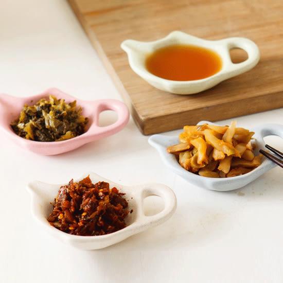 ✭米菈生活館✭【H38-1】茶壺造型小碟子 小麥 環保 醋 醬油 調味 小菜 餐具 廚房 手把 醬料 餐桌