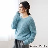 「Winter」蓬鬆毛絨圓領針織衫 - Green Parks