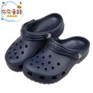 《布布童鞋》Crocs卡駱馳經典款深藍色...