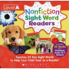 【科普類: 最佳字彙學習書】NONFICTION SIGHT WORD READER: LEVEL A /25書+CD