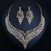 歐美奢華多層手工鎖骨項鏈女時尚配飾品滿鑽首飾項鏈套裝 KV6302 『小美日記』